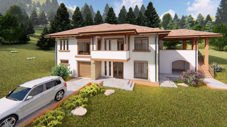 Casa neoromaneasca la munte