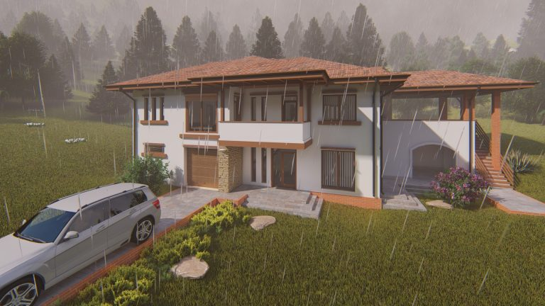 Vizualizare arhitectura pe ploaie