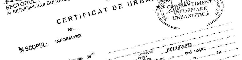 Certificat de urbanism model_bucuresti