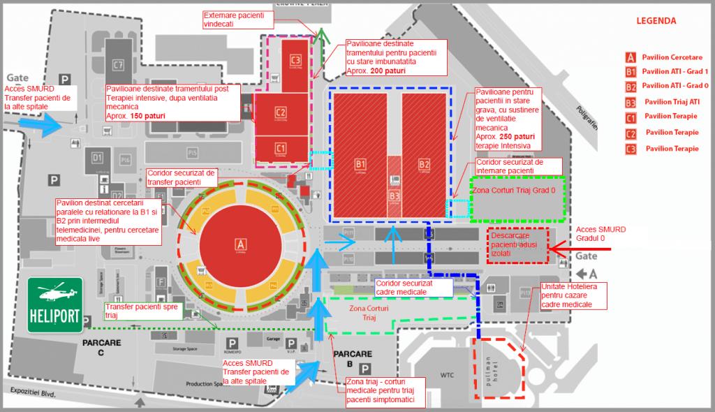 Plan propunere concept spital de urgenta romexpo